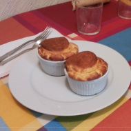 Suffle de queso azul.