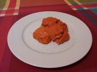 Carrilleras de pescado en salsa de piquillos