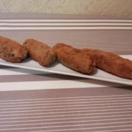 Croquetas de champis y bacon.