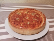Quiche de puerros y bacon.