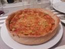 Quiche de tomate, anchoas y aceitunas