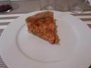 Quiche de aceitunas, tomate y anchoas