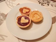 Tartaletas con mermelada y lemond curd