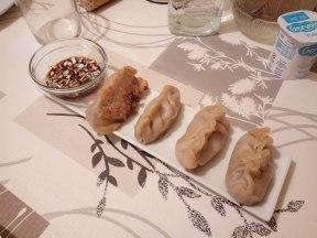 Dumplings de pollo