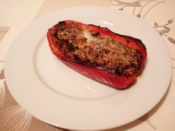 Pimiento asado relleno