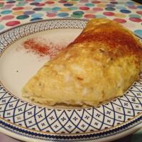 Tortilla de bacalao souflé